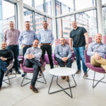 Shiny Happy People, group Photographs of the Audi Design Team visiting The University of Manchester for a conference